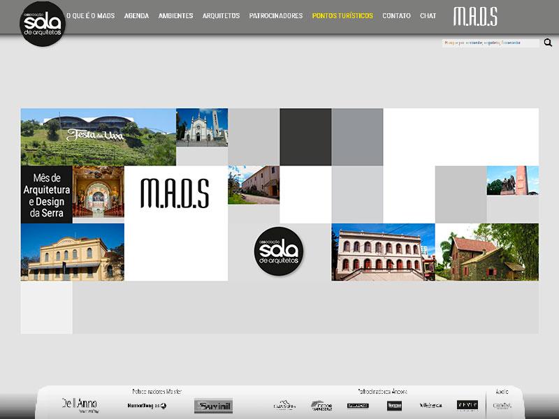 """A imagem mostra a página """"ambientes"""" do site."""